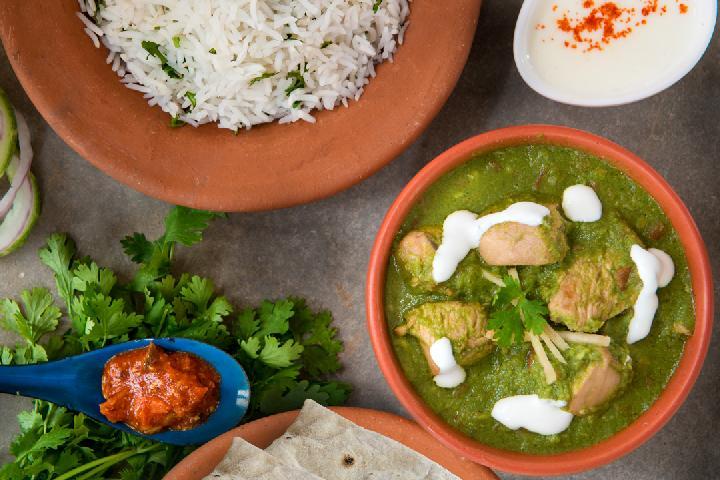 Chicken Karaikudi with Rice