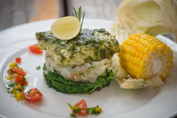 Coriander Pesto Grilled Fish