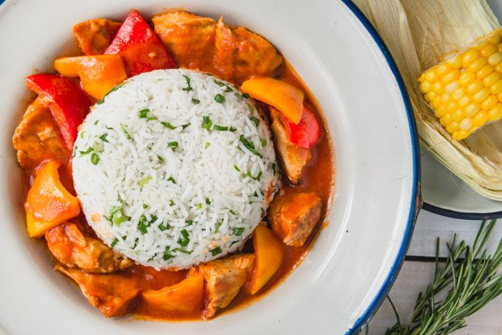 Basque Chicken with Rice
