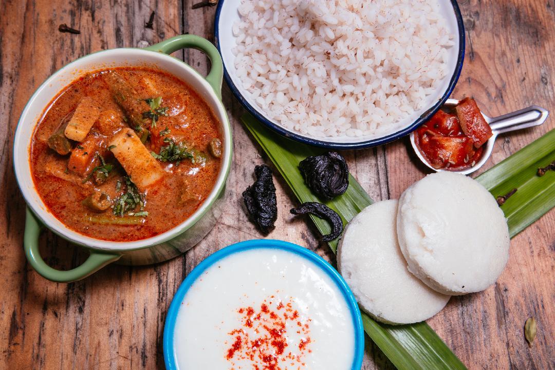 Khatkhatte, Goan rice, Sanna, curd and pickle