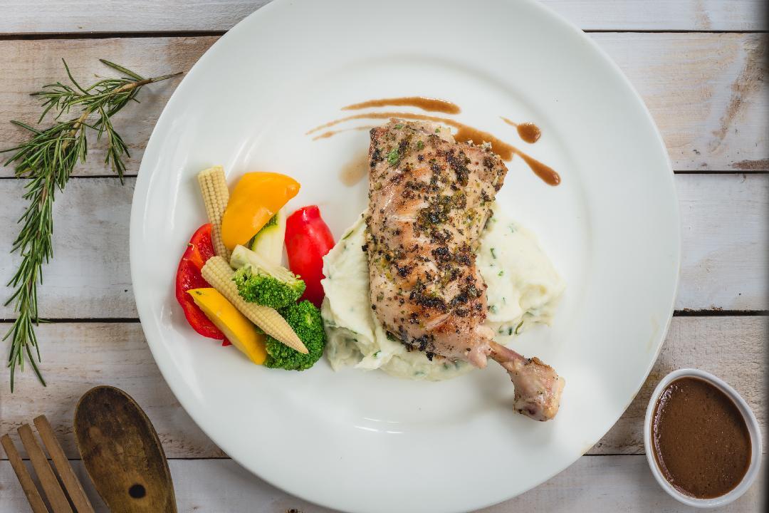 Rosemary Roast Chicken with Jus