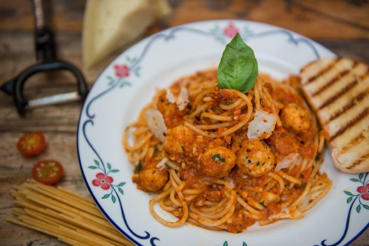 Spaghetti with Chicken Meatballs