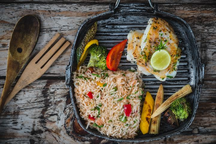 Grilled Fish with Mexican Rice