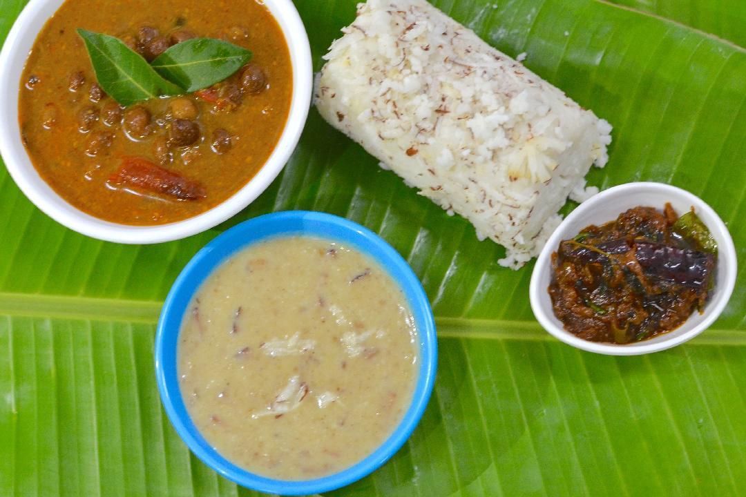 Puttu, Kadala Curry and Dal Payasam