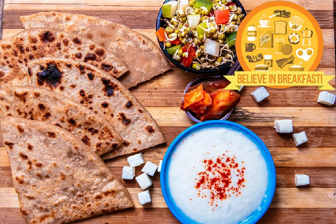 Paneer Paratha for Breakfast